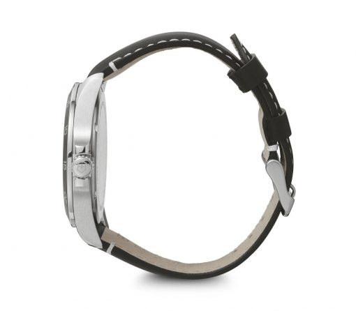 Victorinox - Fieldforce - Black Leather Strap Side Profile