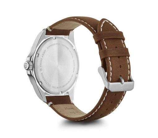 Victorinox - Fieldforce - Brown Leather Strap Back Side Angled Left