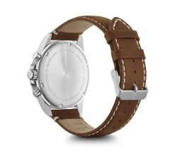 Victorinox - Fieldforce Chrono - Brown Leather Strap Back Side Angled Left