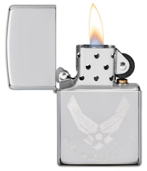 Zippo - U.S. Air Force Emblem Lighter Front Side Open