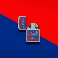 Zippo - NFL Buffalo Bills Design Lighter Front Side Open With Color Background