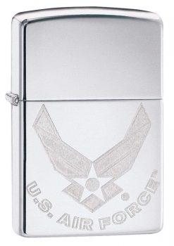 Zippo - U.S. Air Force Emblem Lighter Front Side Closed