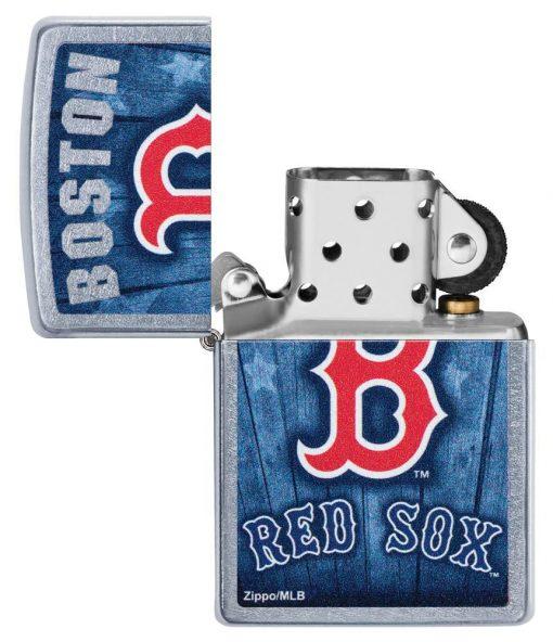Zippo -MLB Boston Red Sox Design Lighter Front Side Open