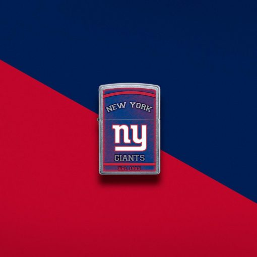 Zippo - NFL New York Giants Design Lighter Front Side Closed With Color Background