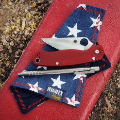 Mighty Hanks Handkerchief Star Spangled Navy Mighty Mini with Microfiber Folded With Outdoor Background