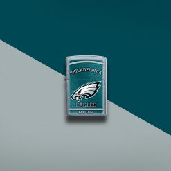 Zippo - NFL Philadelphia Eagles Design Lighter Front Side Closed With Color Background