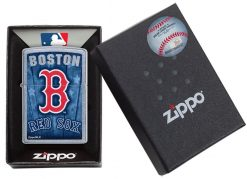 Zippo -MLB Boston Red Sox Design Lighter Front Side Closed in Box
