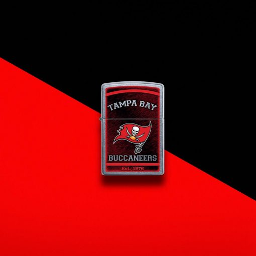 Zippo - NFL Tampa Bay Buccaneers Design Lighter Front Side Closed With Color Background