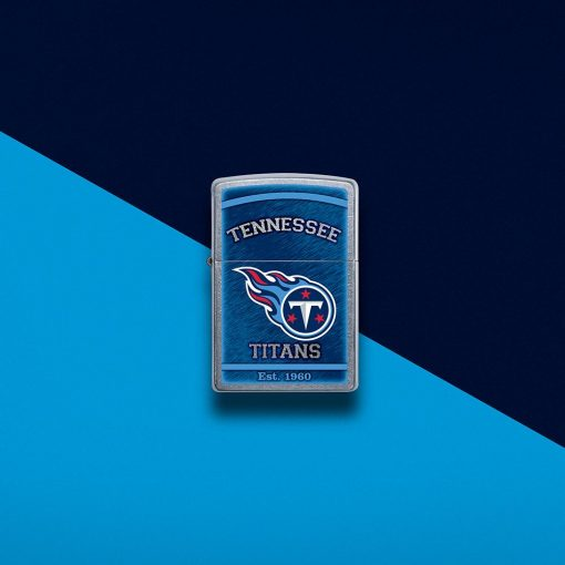 Zippo - NFL Tennessee Titans Design Lighter Front Side Closed with Color Background