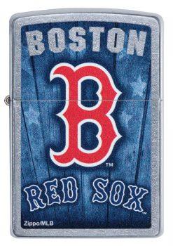 Zippo -MLB Boston Red Sox Design Lighter Front Side Closed