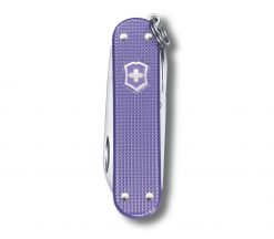 Victorinox Classic SD Alox - Electric Lavender Front Side Closed