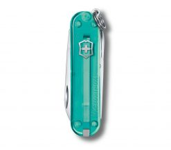 Victorinox Classic SD - Transparent Tropical Surf Back Side Closed