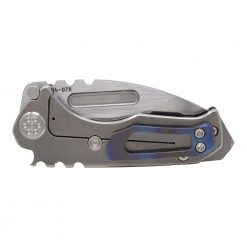Medford Micro Praetorian T S35VN Tumbled Tanto Blade Faced and Flamed Galaxy Handle Back Side Closed