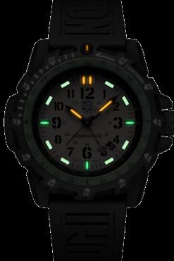 Luminox Commando Raider 3320 Series 3337 Green/Black Front Side Center Night