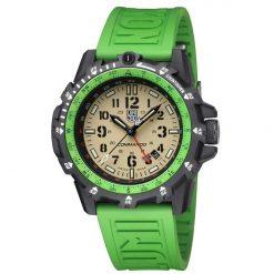 Luminox Commando Raider 3320 Series 3337 Green/Black Front Side Center Angled