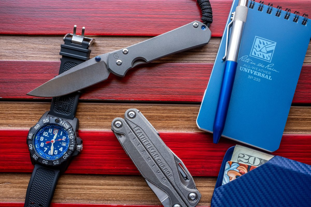 take a peek at our selection of watches? Maybe grab a handkerchief? Flashlight? Multitool? Or maybe a handmade wallet?